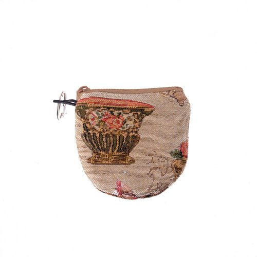 Belly Moden Ornament Tapestry Keyring Purse 8 x 8 cm