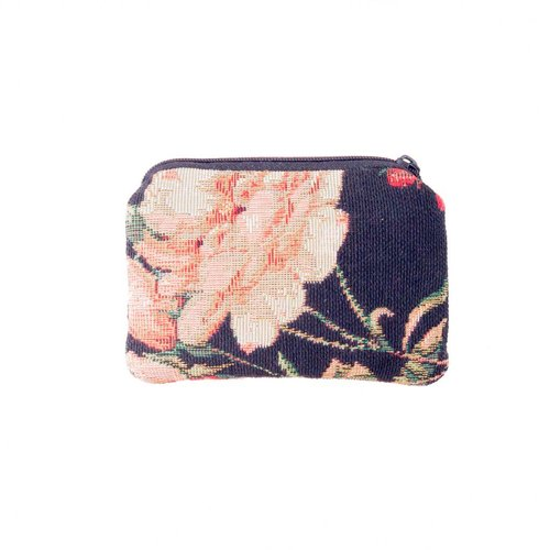 Belly Moden Black and leaves Tapestry Small Purse 12x 8 cm