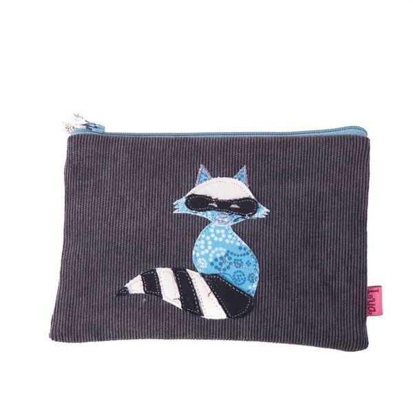 Racoon aplique zip purse