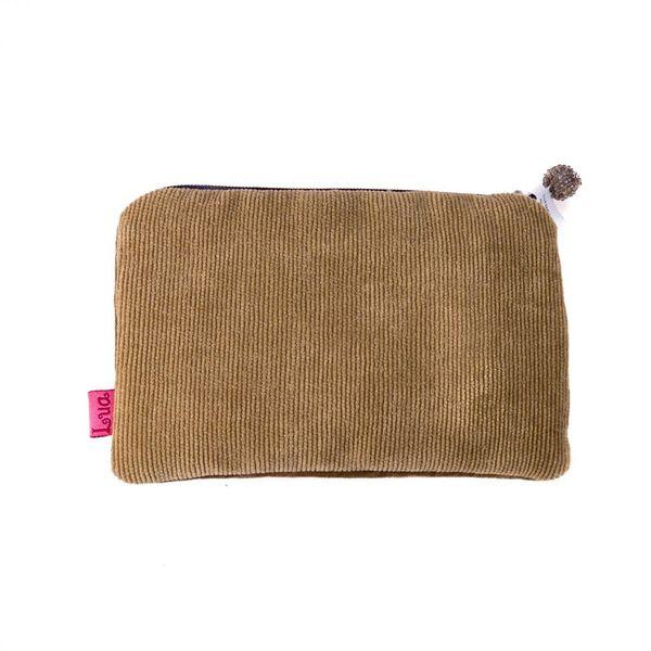 Yellow hound velvet zip purse