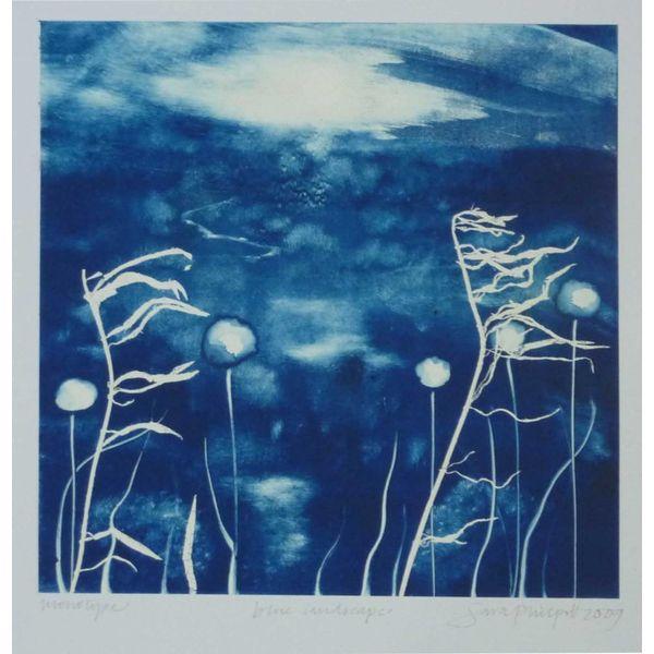 Blaue Landschaft