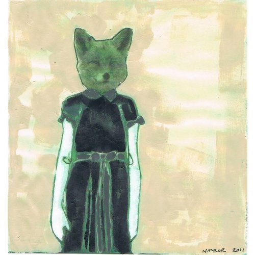 Lisa Naylor Copy of Cat -  mixed media painting