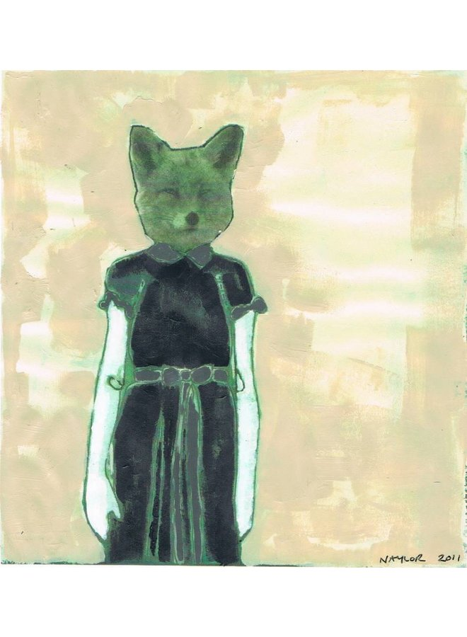 Copy of Cat -  mixed media painting