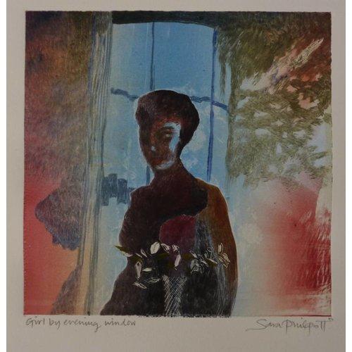 Sara Philpott Chica por la ventana de noche