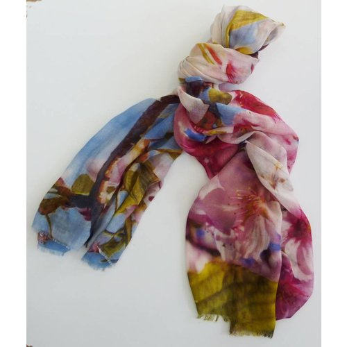 P J Studio Branches and Blossom Modal and Silk Scarf