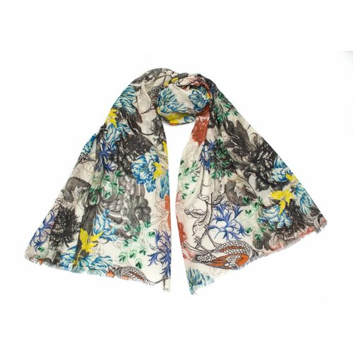 P J Studio Cecilia fine wool and silk Scarf