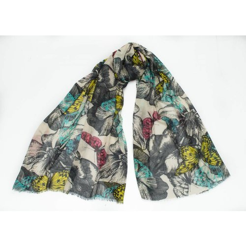 P J Studio Jewel Butterfly Modal and Silk Scarf