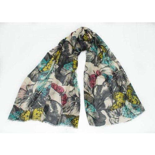 P J Studio Jewel Butterfly Modal y pañuelo de seda