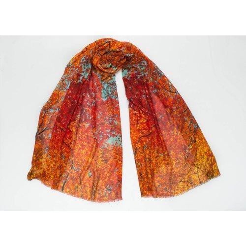 P J Studio Autumn Skies Modal and Silk Scarf 001