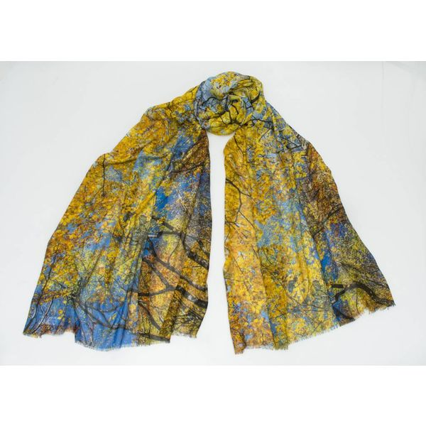 Summer Skies Modal and Silk Scarf