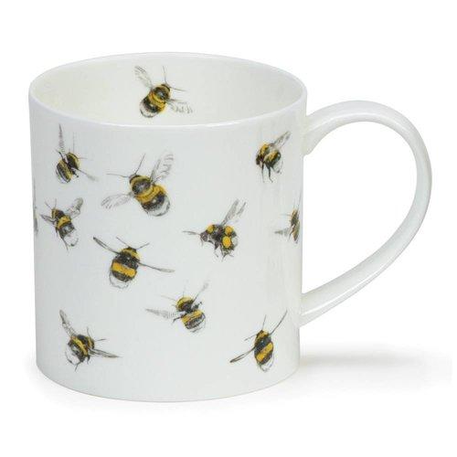 Dunoon Ceramics Taza de porcelana fina de abejas por Hannah Longmuir