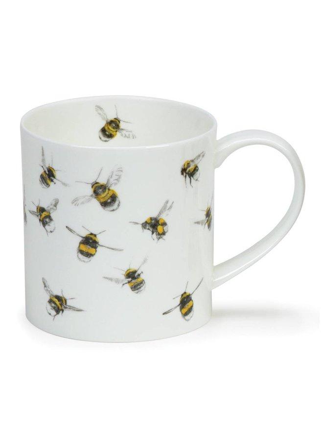 Bees Fine Bone China Mug by Hannah Longmuir