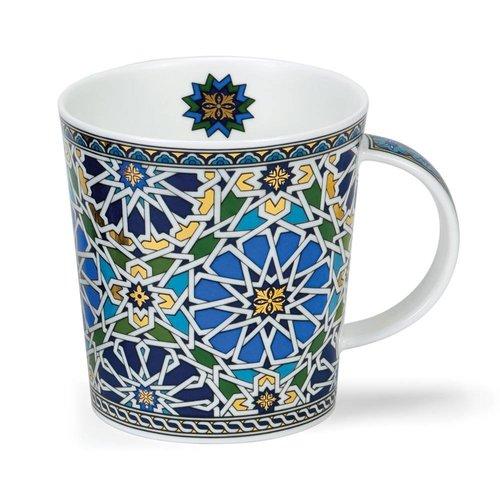 Dunoon Ceramics Jeque azul pálido con oro de 22 quilates de David Broadhurst
