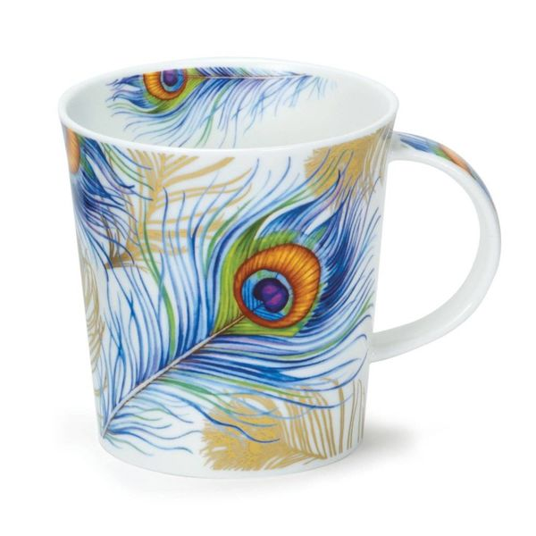 Peacock Feathers White Mug Lomond