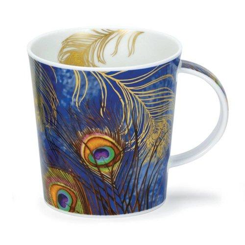 Dunoon Ceramics Peacock Feathers Blue Mug Lomond