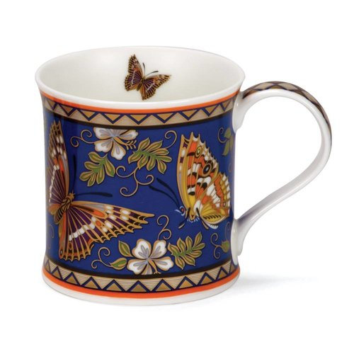 Dunoon Ceramics Butterfly with 22 carat gold mug by David Broadhurst