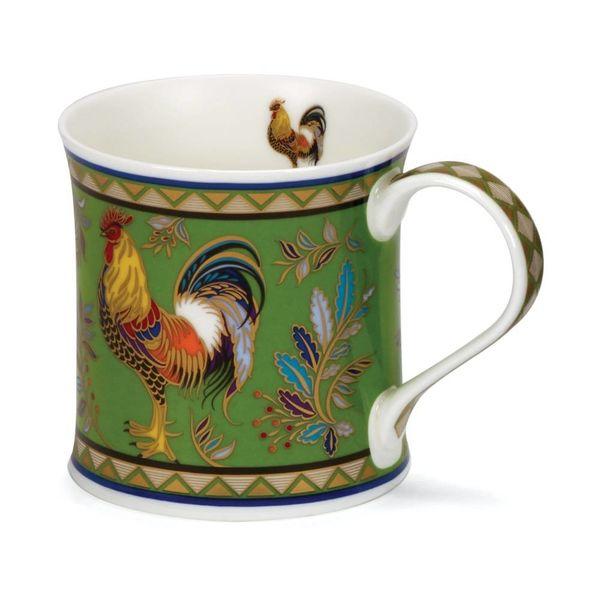 Cockerel with 22 carat gold mug by David Broadhurst