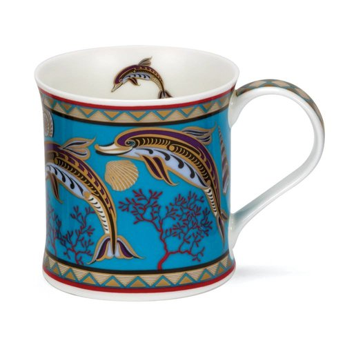 Dunoon Ceramics Dolphin 22 carat gold mug by David Broadhurst