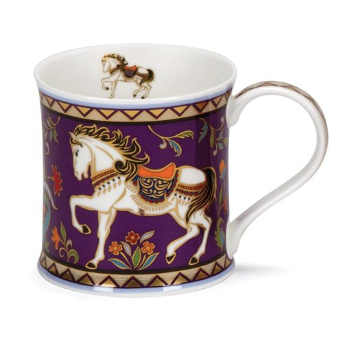 Dunoon Ceramics Horse 22 carat gold mug by David Broadhurst