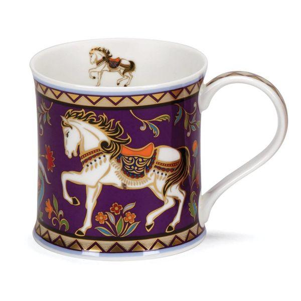 Horse 22 carat gold mug by David Broadhurst