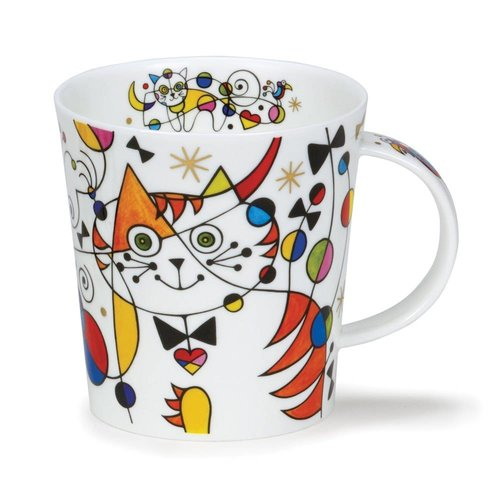 Dunoon Ceramics Currious cats heart  22 carat gold mug by Caroline Dad