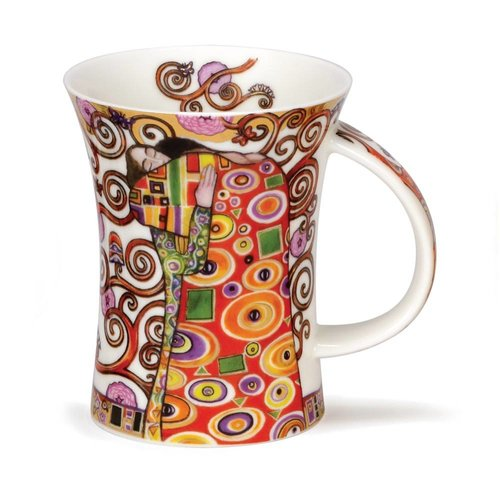 Dunoon Ceramics Embrace Klimt 22 carat gold mug by Caroline Dad