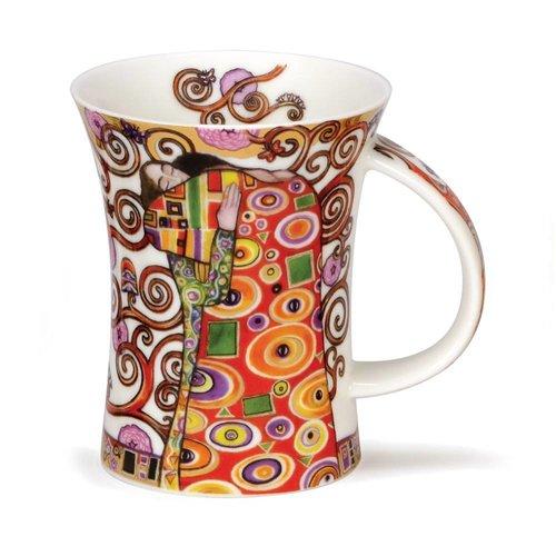 Dunoon Ceramics Taza Embrace Klimt de 22 quilates y oro de Caroline Dad 34