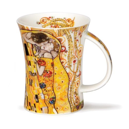 Dunoon Ceramics Kiss  Klimt 22 carat gold mug by Caroline Dad
