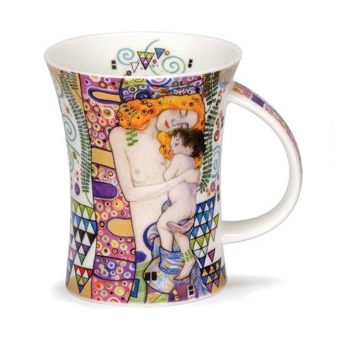 Dunoon Ceramics Taza Ages Klimt de 22 quilates y oro de Caroline Dad