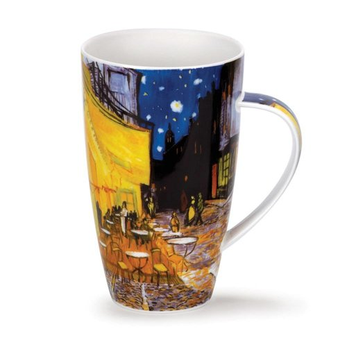 Dunoon Ceramics Van Gogh Outdoor Cafe tall mug by Caroline Dad