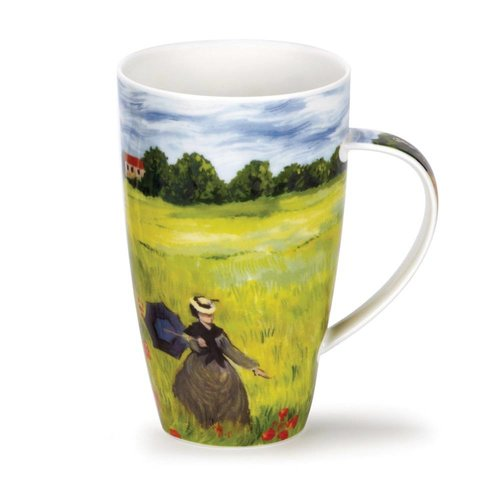 Dunoon Ceramics Monet Poppy Field  tall mug by Caroline Dad