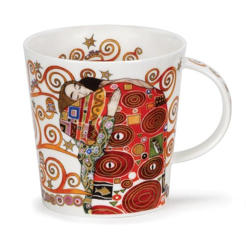 Dunoon Ceramics Adoration Embrace based on Klimt  22 carat Mug