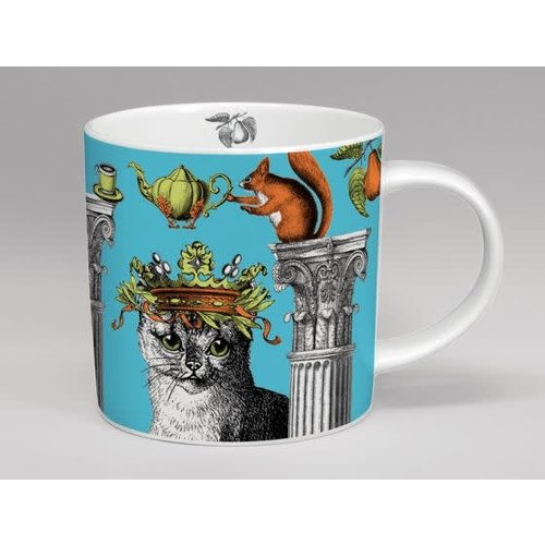 Repeat Repeat menagerie mug cat turquoise