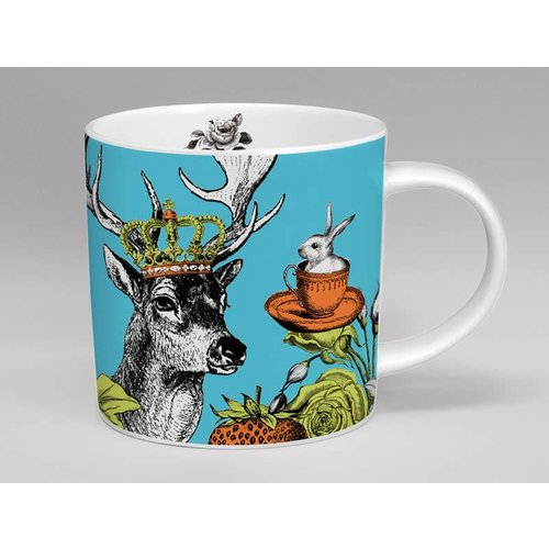 Repeat Repeat Menagerie stag large mug  made in Stoke