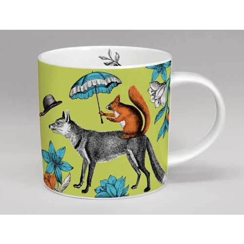 Repeat Repeat menagerie  Mr. fox lare mug made in England