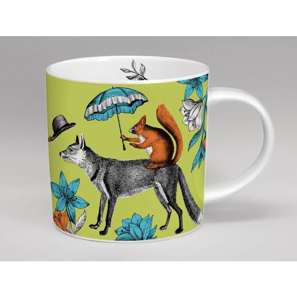 menagerie mug mr fox green