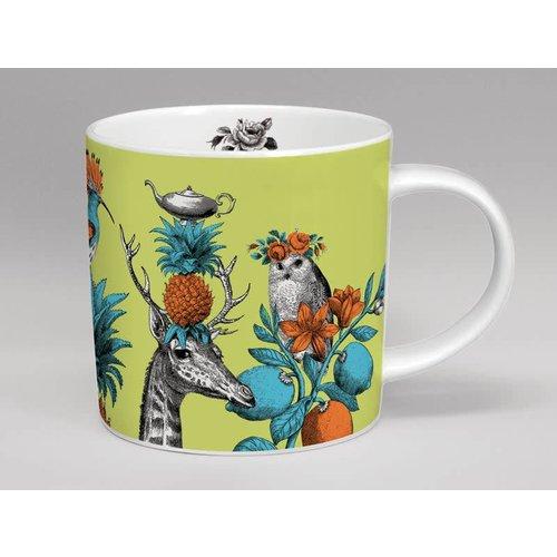 Repeat Repeat Menagerie giraffe large Green mug 05