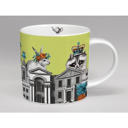 Repeat Repeat Menagerie racoon large mug  made in Stoke