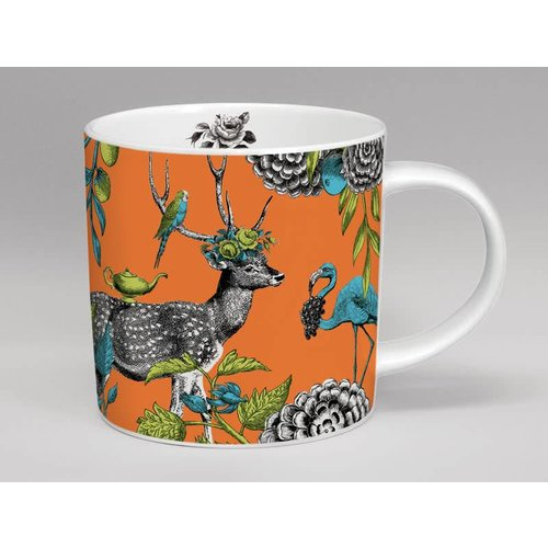 Repeat Repeat Menagerie Deer large mug made in Stoke