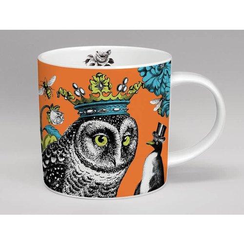 Repeat Repeat Menagerie owl hoot large mug made in Stoke