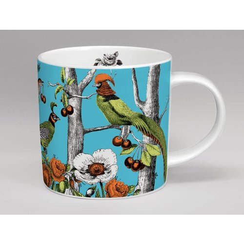 Repeat Repeat Menagerie Birds taza grande hecha en Stoke
