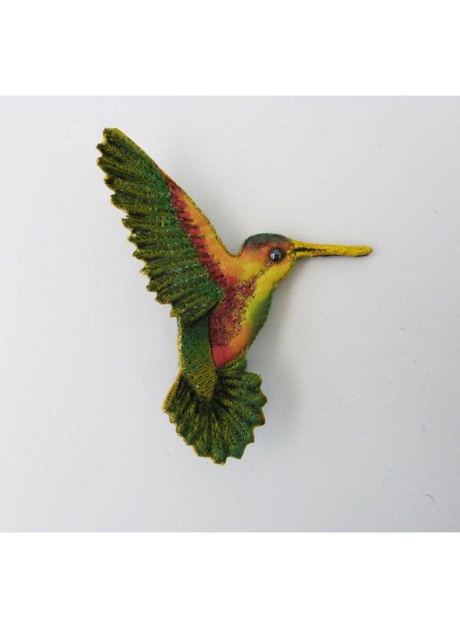 Vikki Lafford Garside Kolibri rechts gestickte Brosche