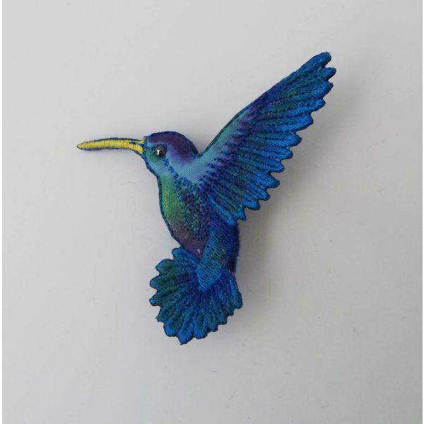 Copy of Humming bird beak right Embroidered Brooch