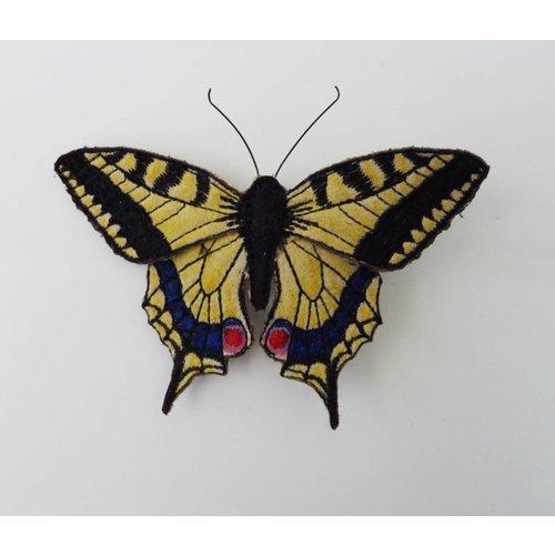 Vikki Lafford Garside Swallowtail britischer Schmetterling gestickte Brosche