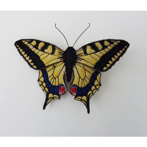 Vikki Lafford Garside Swallowtail British Butterfly Embroidered Brooch