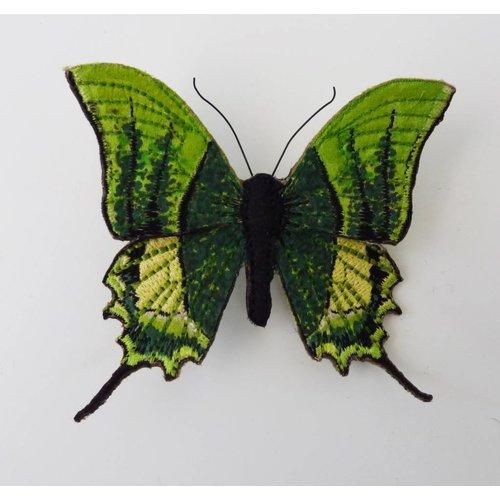 Vikki Lafford Garside Kaiser-i-Hind Endangered Butterfly Embroidered Brooch