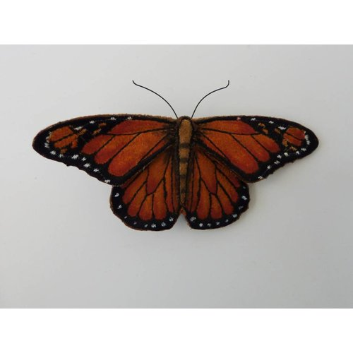 Vikki Lafford Garside Monarch Endangered Butterfly Embroidered Brooch