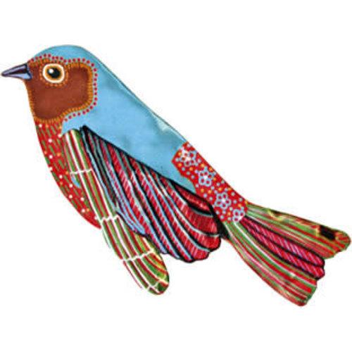Melanie Tomlinson Blue Bird Enamel Brooch