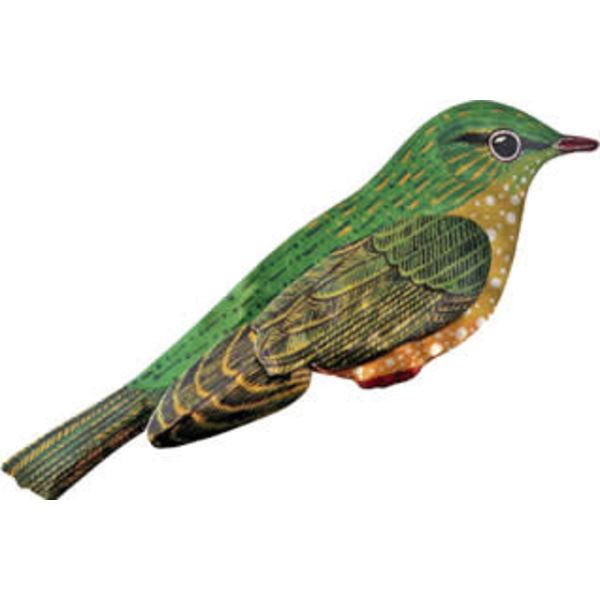 Bird Enamel Brooch