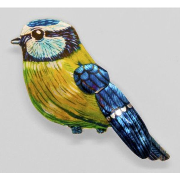 Blue Tit Brooch 56x56mm